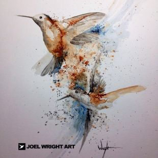 Joel Wright Cody's Humming Bird Painting